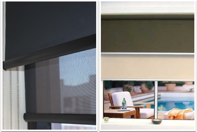 Dual Roller Blinds- curtains and blinds